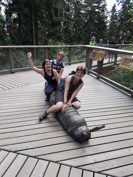 Jánské Lázně 2018: with Lauren and Filip (by Lauren)